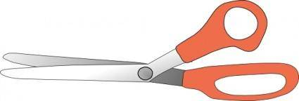 free vector Scissors Slightly Open clip art