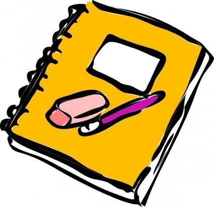 free vector Pencil Eraser And Journal clip art