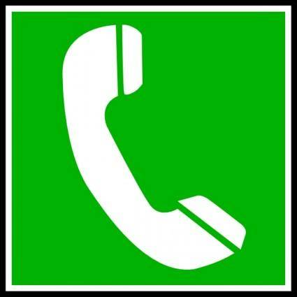 free vector Telephone Sauvetage clip art