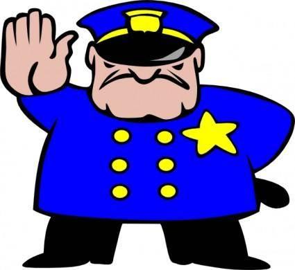 free vector Police Man clip art