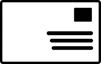 Envelope Addressed Stamp Symbol clip art