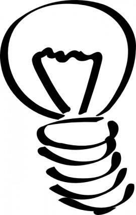 Lightbulb Sketch clip art