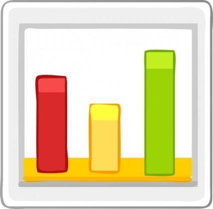 Bar Chart Statistics clip art