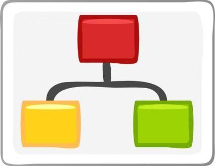 Block Diagram Visio Hierarchy clip art