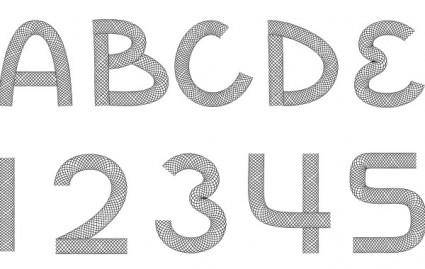 free vector Wire Font