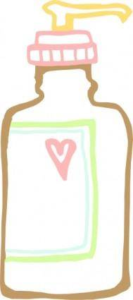 free vector Lotion Push Bottle clip art