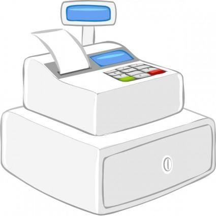 free vector Cashier Case Calculator clip art