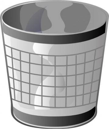 Empty Trash Bin clip art