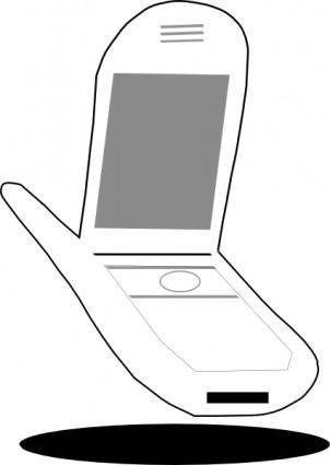 Cellphone clip art
