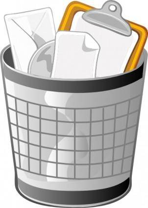 free vector Full Office Trash Can clip art