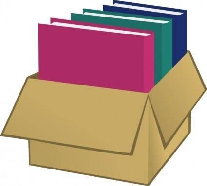 Box With Folders clip art