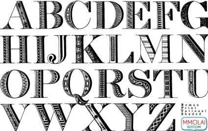 free vector Vector Font: Roman Print