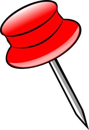 Pin -red clip art