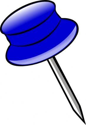 free vector Blue Pin clip art