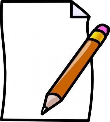 free vector Paper Pencil clip art