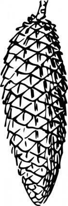 free vector Pine Cone clip art