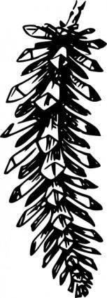 Open Pine Cone clip art