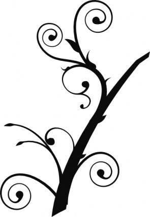 free vector Twisted Branch clip art