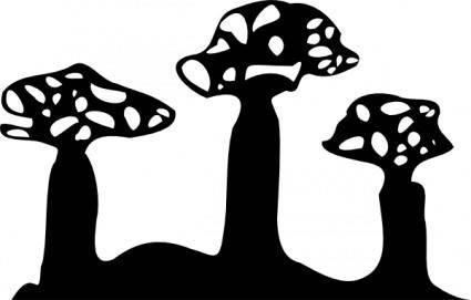 Boab Silhouette clip art