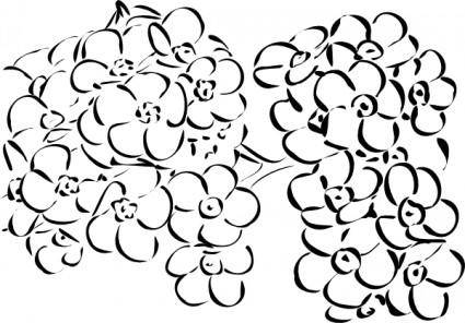 Flowers Outline clip art