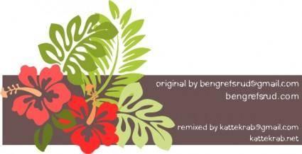 Hibiscus Remixed clip art