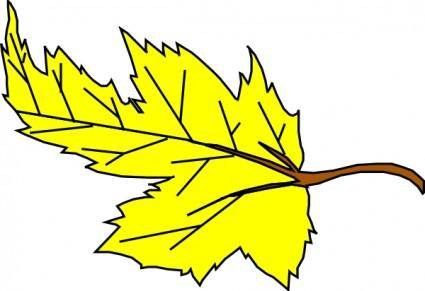 free vector Yellow Leaf clip art