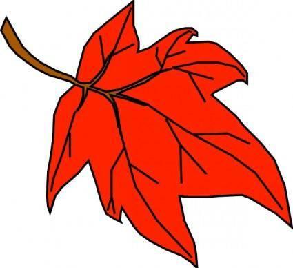 Orange Leaf clip art