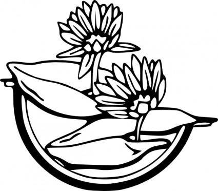 free vector Water Lily clip art