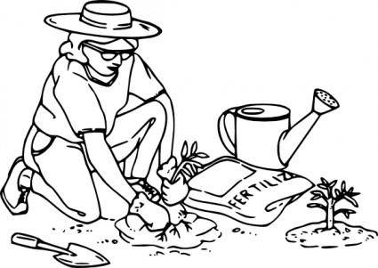 free vector Gardening clip art