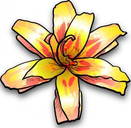 free vector Yellow Flower clip art