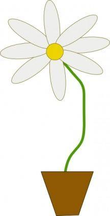 Flower In A Pot clip art