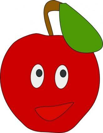 Smiling Apple clip art