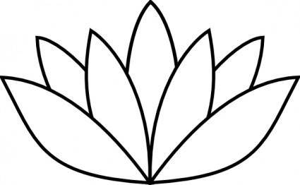White Lotus Flower clip art