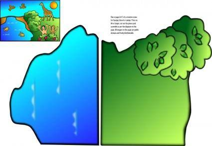 Creation Scene clip art
