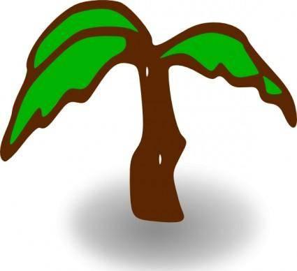 free vector Rpg Map Symbols Palm Tree clip art
