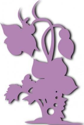 free vector Plant Sillhouette clip art