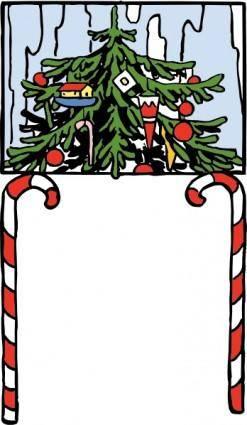 Christmas Arch clip art