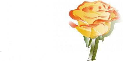 free vector Yellow Rose clip art