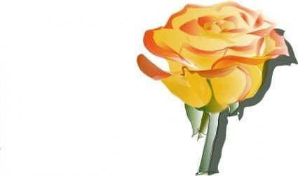 Yellow Rose clip art