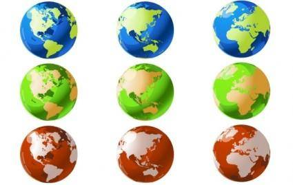 free vector VECTOR WORLD GLOBES