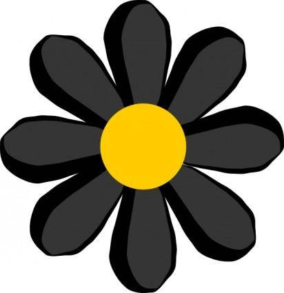 free vector Black Flower clip art