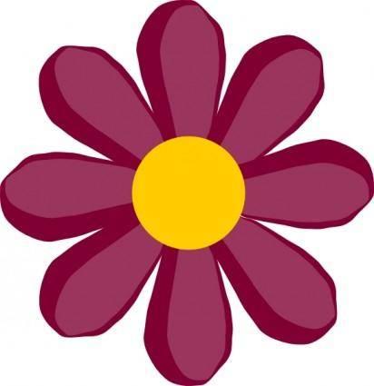 Purple Flower clip art