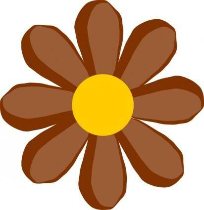 free vector Brown Flower clip art