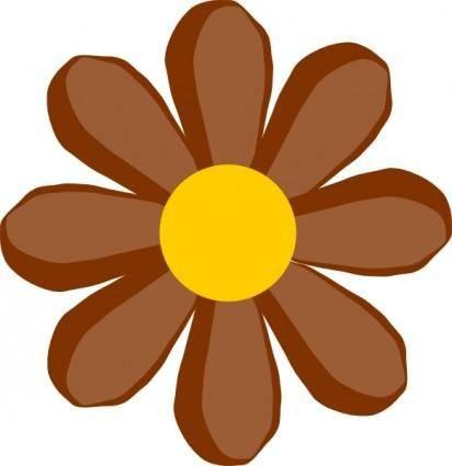 Brown Flower clip art
