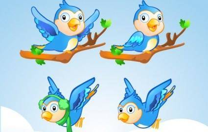 Free Vector Character ? Little Blue Bird