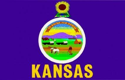 Flag Of Kansas clip art