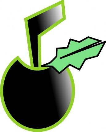 Black Apple clip art