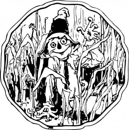 Scarecrow In The Corn clip art