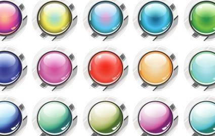 free vector Glassy Buttons Vector