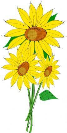 free vector Sunflowers clip art